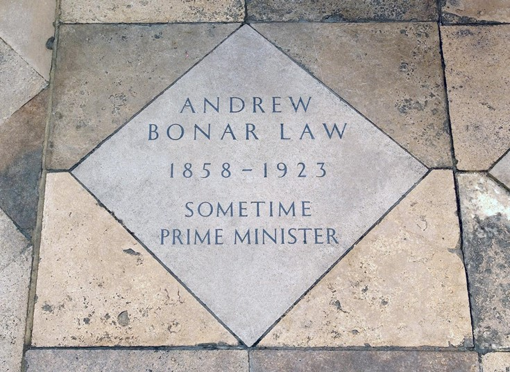 andrew law memorial westminster abbey