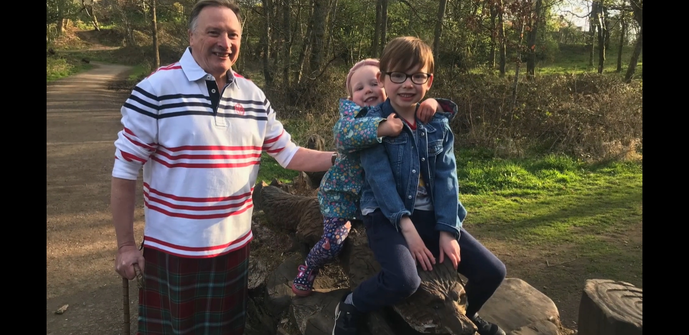 kiltwalk PGM with Grandkids